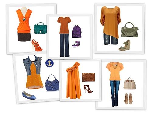 Farby – Ako Nosiť Oranžovú