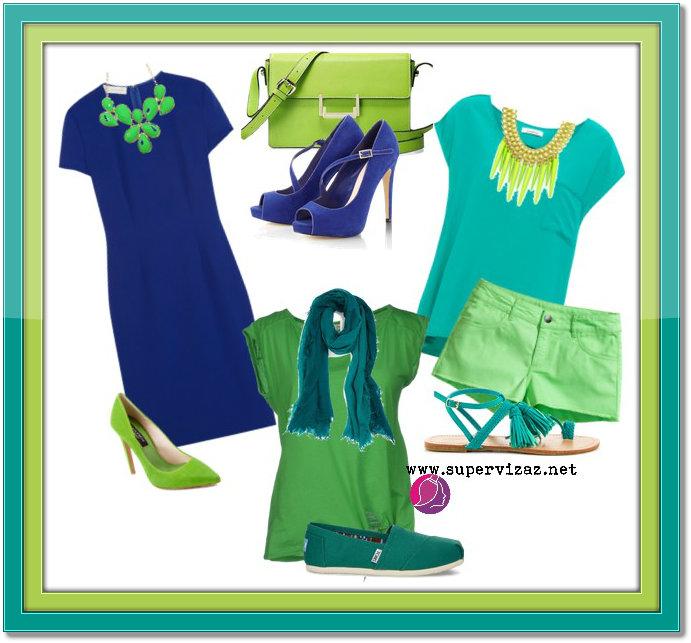 Neobvyklé Kombinácie Farieb – Zelená A Modrá