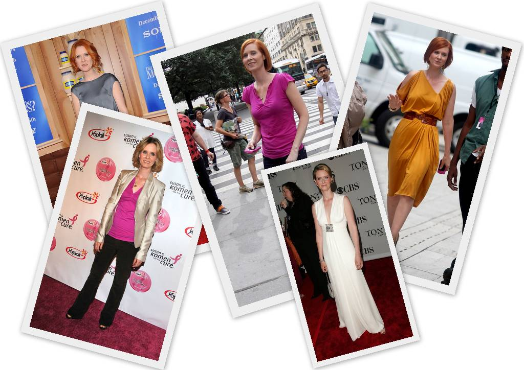 "Celebrity A Tvar Postavy – Cynthia Nixon – ""hruška"""