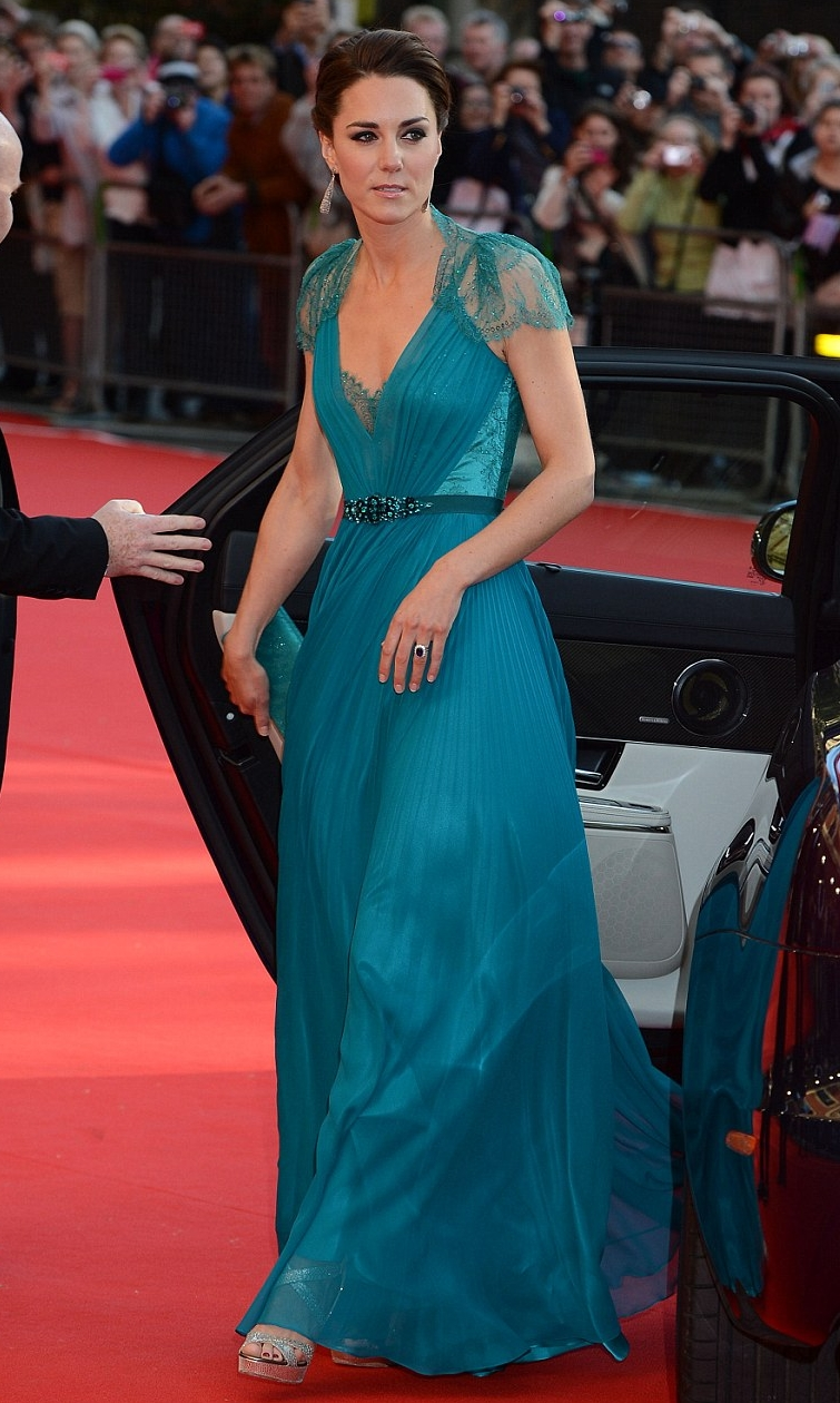 Celebrity A Farby – Vojvodkyňa Kate V Modrých šatách