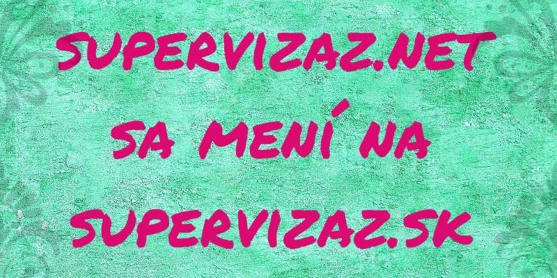 Supervizaz.net Sa Mení Na Supervizaz.sk A Má Nový Dizajn