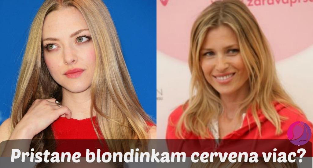 Blondínky A červená Farba