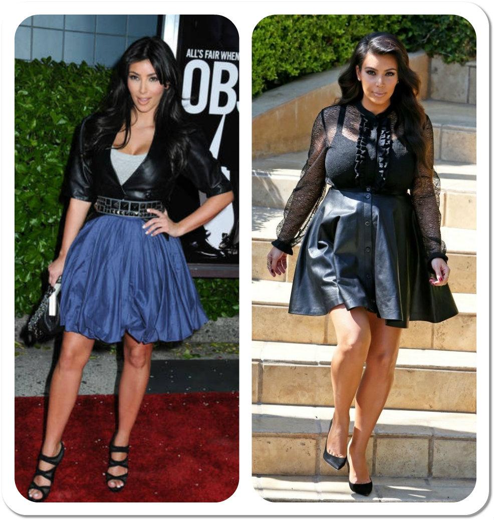 9f3c759d5d4b Celebrity a tvar postavy - Kim Kardashian a tehotenské oblečenie ...
